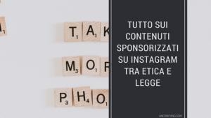 contenuti sponsorizzati instagram